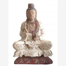 Chine Kwan Yin Sculpture antique