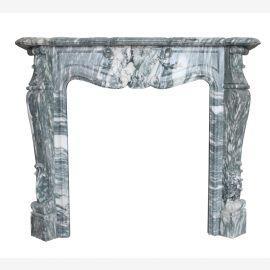 Cheminée en marbre, façade de cheminée sur mesure en marbre massif K024