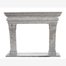 Cheminée en marbre, façade de cheminée faite sur mesure en marbre massif K037