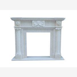 Cheminée en marbre, façade de cheminée sur mesure en marbre massif K049