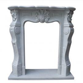 Cheminée en marbre, façade de cheminée faite sur mesure en marbre massif K056