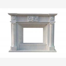 Cheminée en marbre, cheminée sur mesure en marbre massif K066