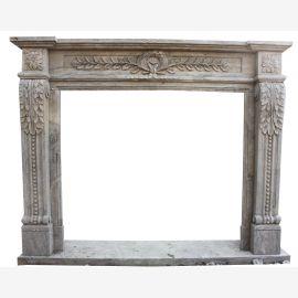 Cheminée en marbre, cheminée sur mesure en marbre massif K072