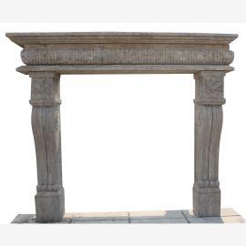 Cheminée en marbre, cheminée sur mesure en marbre massif K074