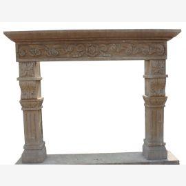 Cheminée en marbre, cheminée sur mesure en marbre massif K075