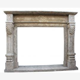 Cheminée en marbre, cheminée sur mesure en marbre massif K077