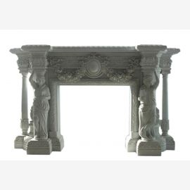 Cheminée en marbre, cheminée sur mesure en marbre massif K081