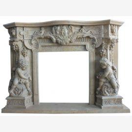 Cheminée en marbre, cheminée sur mesure en marbre massif K091