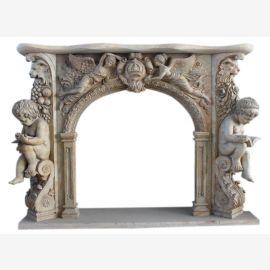 Cheminée en marbre, cheminée sur mesure en marbre massif K092