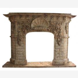 Cheminée en marbre, cheminée sur mesure en marbre massif K098