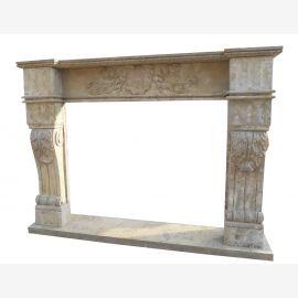 Cheminée en marbre, cheminée sur mesure en marbre massif K099