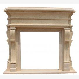 Cheminée en marbre, cheminée sur mesure en marbre massif K102