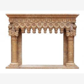 Cheminée en marbre, cheminée sur mesure en marbre massif K105