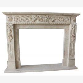 Cheminée en marbre, cheminée sur mesure en marbre massif K111