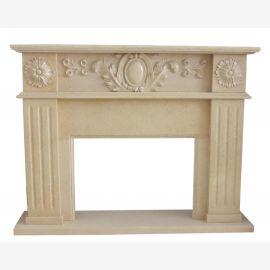 Cheminée en marbre, cheminée sur mesure en marbre massif K116