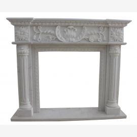 Cheminée en marbre, cheminée sur mesure en marbre massif K118