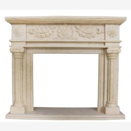 Cheminée en marbre, cheminée sur mesure en marbre massif K121