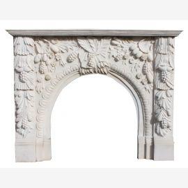 Cheminée en marbre, cheminée sur mesure en marbre massif K123