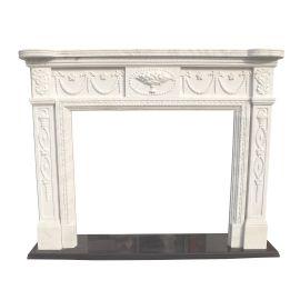 Cheminée en marbre, cheminée sur mesure en marbre massif K124