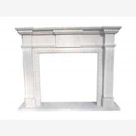 Cheminée en marbre, cheminée sur mesure en marbre massif K133