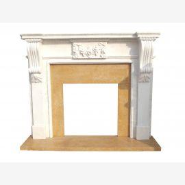 Cheminée en marbre, cheminée sur mesure en marbre massif K134