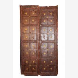 Poitrine de tiroirs baroque bois massif shabby chic