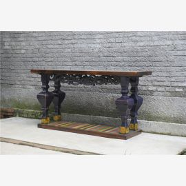 Table en bois de haute qualité China Drechlerarbeiten Drechlerarbeiten Used-Look