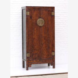 armoire en bois massif en chine, merisier, bois de cerisier, applications métalliques