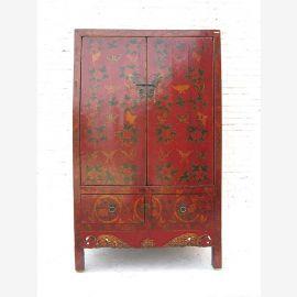 Bois massif, rouge foncé, peinture traditionnelle chinoise.