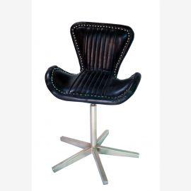 NEU aircraft moebel Aluminium Leder revolving chair Drehstuhl