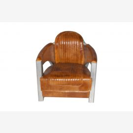 Chaise tournante NOUVEAU cuir de meubles d'avion en aluminium chaise pivotante