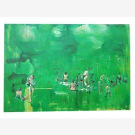 Impressionniste scène de baignade de la même taille que l'huile originale sur la toile des artistes célèbres