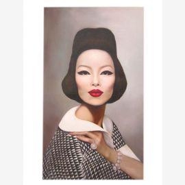 Vogue Chine mode la mode mondiale peinture à l'huile sur toile portrait