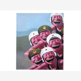 Chine rit portraits uniformes militaire moderne huile art de la taille de l'original sur la toile