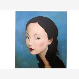 Chine femmes taille Portrait de l'huile originale sur la toile par un maître connu