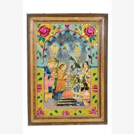 Inde image de 1950 vieux mur cadre traditionnel motif Rajasthan