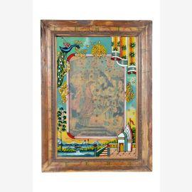 Inde image de 1950 vieux mur ossature bois Rajasthan scène palais