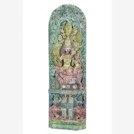 Indienhausaltar Motiv Gott Shiva zusammen mit Parvati