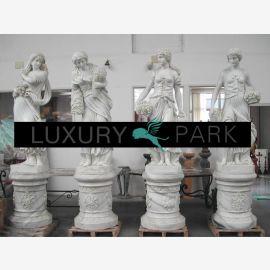 Four Seasons femmes anciennes sculptures en marbre blanc classique