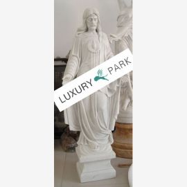 sculpture classique Jésus Christ neige baroque en marbre blanc