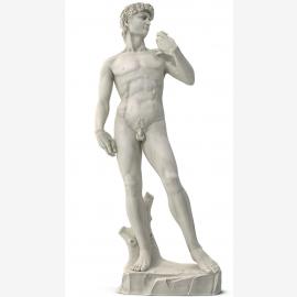 Michel-Ange David sculpture de marbre blanc de neige Renaissance
