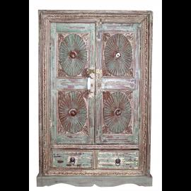 Inde cabinet pastel vert antique