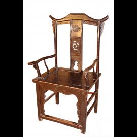 Chine chaise paire d'antiquité originale environ 100 ans