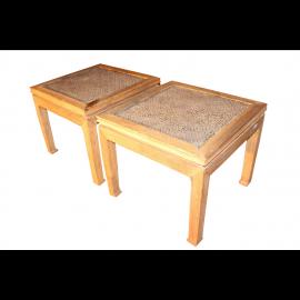 Paire de table en bambou