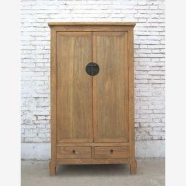 Chine grande et lumineuse de style campagnard Cabinet Cabinet noble bois de pin