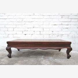 Chine Shanxi foncé vers 1860 typique tableau orme socle de bois plat