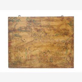 Chine Tibet peinture murale de 1900 sur le bois coloration classique antique