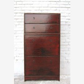 Chaussure pratique Vaisselier quatre grands sujets brun rougeâtre pin de look antique