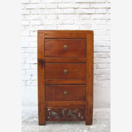 Chine Shanxi 1860 petit Commode de style table de chevet orme