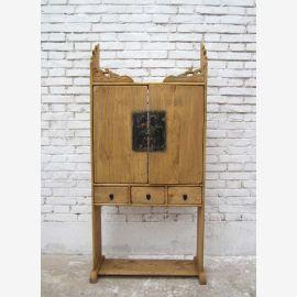 Chine Shanxi lumineuse 1890 Classic House sanctuaire peuplier étagère en bois